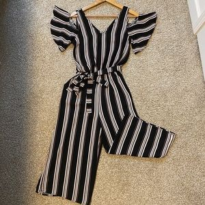 Black jumpsuit with pockets